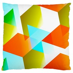 Geometric 03 Orange Standard Flano Cushion Cases (Two Sides)