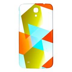 Geometric 03 Orange Samsung Galaxy Mega I9200 Hardshell Back Case