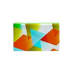 Geometric 03 Orange Cosmetic Bag (XS)