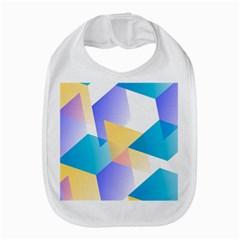 Geometric 03 Blue Bib
