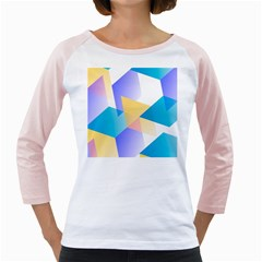 Geometric 03 Blue Girly Raglans