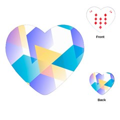 Geometric 03 Blue Playing Cards (Heart)