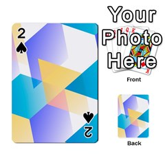 Geometric 03 Blue Playing Cards 54 Designs