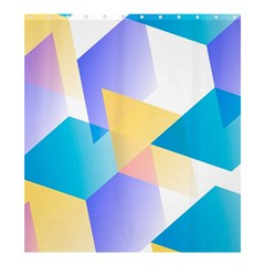 Geometric 03 Blue Shower Curtain 66  x 72  (Large)