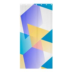 Geometric 03 Blue Shower Curtain 36  X 72  (stall)