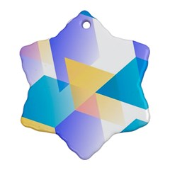 Geometric 03 Blue Ornament (Snowflake)