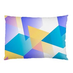 Geometric 03 Blue Pillow Cases (Two Sides)