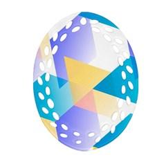 Geometric 03 Blue Ornament (oval Filigree)