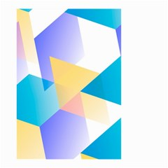 Geometric 03 Blue Small Garden Flag (Two Sides)