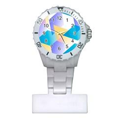Geometric 03 Blue Nurses Watches