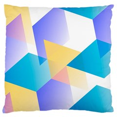 Geometric 03 Blue Large Flano Cushion Cases (two Sides)