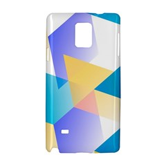 Geometric 03 Blue Samsung Galaxy Note 4 Hardshell Case