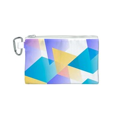 Geometric 03 Blue Canvas Cosmetic Bag (S)