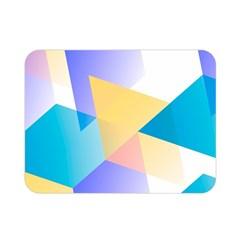 Geometric 03 Blue Double Sided Flano Blanket (Mini)