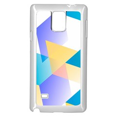 Geometric 03 Blue Samsung Galaxy Note 4 Case (White)