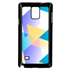 Geometric 03 Blue Samsung Galaxy Note 4 Case (Black)