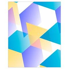Geometric 03 Blue Drawstring Bag (Small)