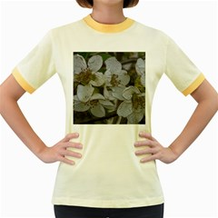 Amazing Garden Flowers 32 Women s Fitted Ringer T-Shirts