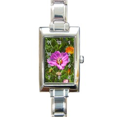 Amazing Garden Flowers 24 Rectangle Italian Charm Watches