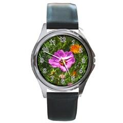 Amazing Garden Flowers 24 Round Metal Watches