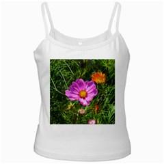 Amazing Garden Flowers 24 White Spaghetti Tanks
