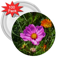 Amazing Garden Flowers 24 3  Buttons (100 Pack)