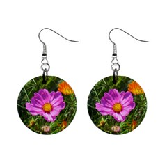 Amazing Garden Flowers 24 Mini Button Earrings