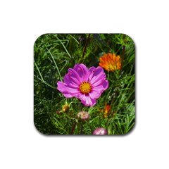 Amazing Garden Flowers 24 Rubber Square Coaster (4 Pack)