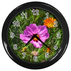 Amazing Garden Flowers 24 Wall Clocks (black)