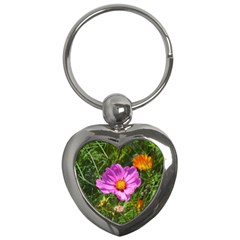 Amazing Garden Flowers 24 Key Chains (heart)