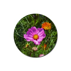 Amazing Garden Flowers 24 Rubber Coaster (round)