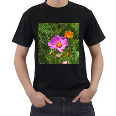 Amazing Garden Flowers 24 Men s T Shirt (black) (two Sided)