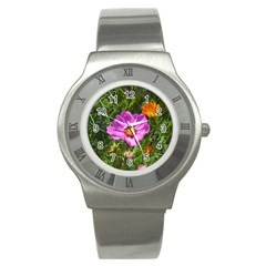 Amazing Garden Flowers 24 Stainless Steel Watches