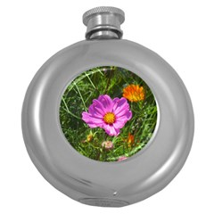 Amazing Garden Flowers 24 Round Hip Flask (5 Oz)