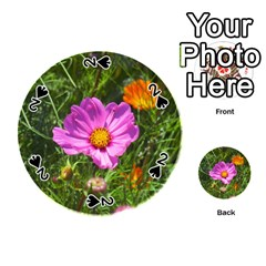 Amazing Garden Flowers 24 Playing Cards 54 (Round)