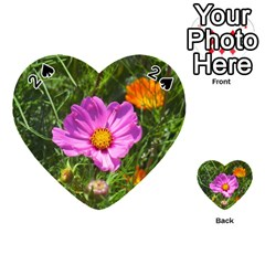 Amazing Garden Flowers 24 Playing Cards 54 (heart)