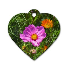 Amazing Garden Flowers 24 Dog Tag Heart (two Sides)