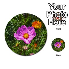 Amazing Garden Flowers 24 Multi Purpose Cards (round)