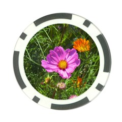 Amazing Garden Flowers 24 Poker Chip Card Guards (10 Pack)