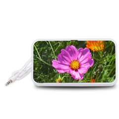 Amazing Garden Flowers 24 Portable Speaker (White)