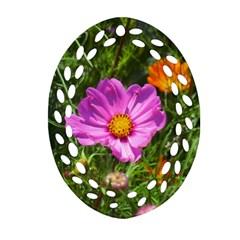 Amazing Garden Flowers 24 Oval Filigree Ornament (2-Side)