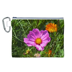 Amazing Garden Flowers 24 Canvas Cosmetic Bag (L)