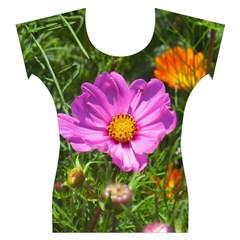 Amazing Garden Flowers 24 Women s Cap Sleeve Top