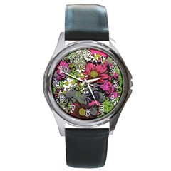 Amazing Garden Flowers 21 Round Metal Watches