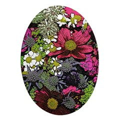 Amazing Garden Flowers 21 Ornament (oval)