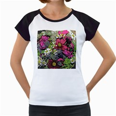 Amazing Garden Flowers 21 Women s Cap Sleeve T