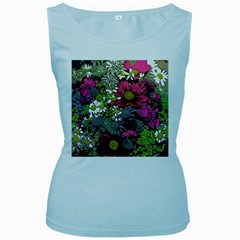 Amazing Garden Flowers 21 Women s Baby Blue Tank Tops