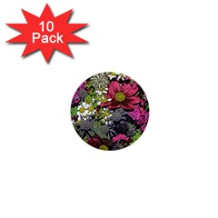 Amazing Garden Flowers 21 1  Mini Buttons (10 Pack)