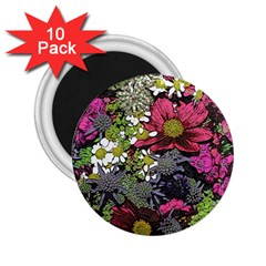 Amazing Garden Flowers 21 2 25  Magnets (10 Pack)