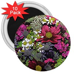 Amazing Garden Flowers 21 3  Magnets (10 Pack)